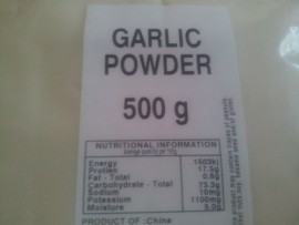 GARLIC POWDER 500g
