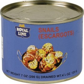 ROYAL LINE SNAILS ESCARGOTS IN BRINE 200G TIN